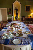 UK, England, Yorkshire.  Table Set for Afternoon Tea in an English Country Home.