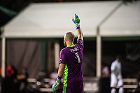 LAKE BUENA VISTA, FL - JULY 23: Marko Maric #1 of the Houston Dynamo calls for the ball during a game between Los Angeles Galaxy and Houston Dynamo at ESPN Wide World of Sports on July 23, 2020 in Lake Buena Vista, Florida.