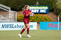 CARY, NC - SEPTEMBER 12: Casey Murphy #1 of the NC Courage controls the ball during a game between Portland Thorns FC and North Carolina Courage at Sahlen's Stadium at WakeMed Soccer Park on September 12, 2021 in Cary, North Carolina.