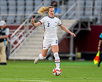 TOKYO, JAPAN - JULY 21: Samantha Mewis #3 of the USWNT dribbles during a game between Sweden and USWNT at Tokyo Stadium on July 21, 2021 in Tokyo, Japan.