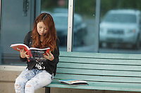 September 30, 2013 - Model released illustration photo of a 17 year old asian female student from Mongolia