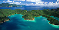 Aerial View of Hurricane Hole<br /> St. John<br /> U.S. Virgin Islands