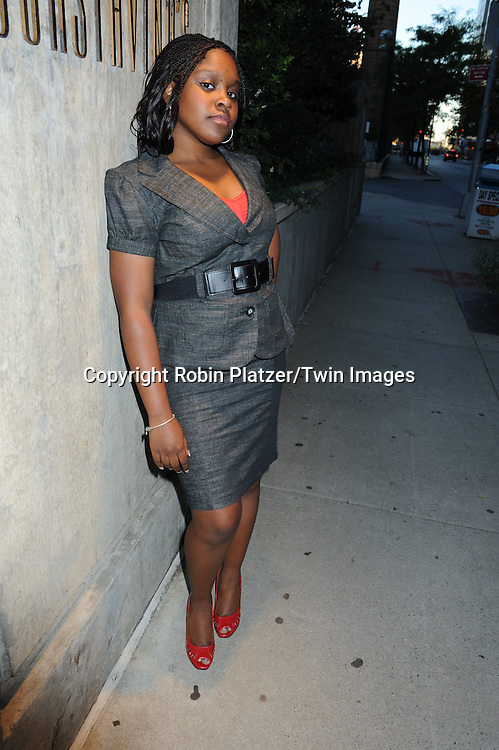 Shenell Edmonds photographed on September 20, 2010 in New York City. ..Photo by Robin Platzer/ Twin Images