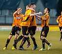 Alloa's Ben Gordon celebrates after he scores Alloa's late equaliser.