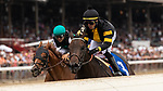 July 17, 2021: Baby Yoda, #3, ridden by jockey Jose L. Ortiz wins a starter allowance on opening weekend at Saratoga Race Course in Saratoga Springs, N.Y. on July 17, 2021. Rob Simmons/Eclipse Sportswire/CSM