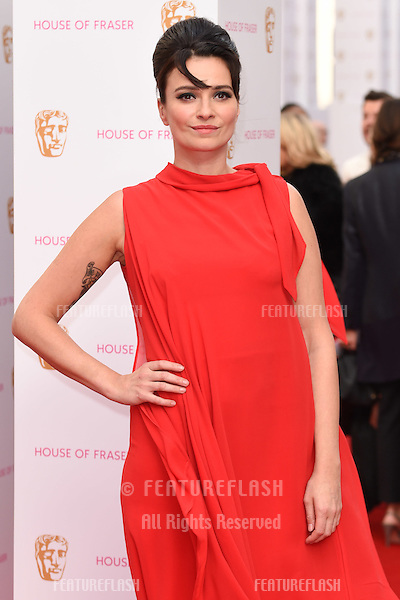 Gizzie Erskine<br /> arrives for the 2015 BAFTA TV Awards at the Theatre Royal, Drury Lane, London. 10/05/2015 Picture by: Steve Vas / Featureflash