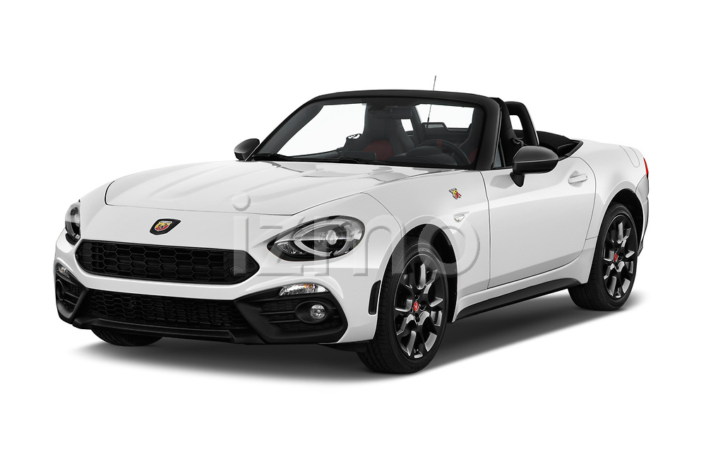 2017 Abarth 124 Spider Base 2 Door Convertible angular front stock photos of front three quarter view