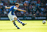 Hearts v St Johnstone...04.08.12.Liam Craig lets a shot go only to see it go just over the bar.Picture by Graeme Hart..Copyright Perthshire Picture Agency.Tel: 01738 623350  Mobile: 07990 594431