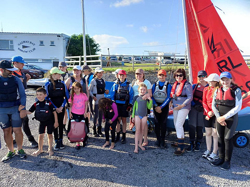 Mirror dinghy competitors at Galway Bay Sailing Club