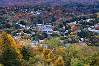 Overview of quaint New England town, North Adams, Massachusetts, USA