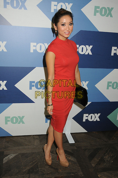 Brenda Song<br /> Fox All-Star Summer 2013 TCA Party held at Soho House, West Hollywood, California, USA, 1st August 2013.<br /> full length red dress ruched black clutch bag <br /> CAP/ADM/BP<br /> ©Byron Purvis/AdMedia/Capital Pictures