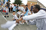 Pix: Shaun Flannery/sf-pictures.com....COPYRIGHT PICTURE>>SHAUN FLANNERY>01302-570814>>07778315553>>..20th July 2008...............Coalfields Regeneration Trust (CRT) - Street Athletics, Merrill Road, Thurnscoe..Linford Cristie