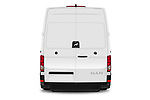 Straight rear view of 2020 Man TGE - 4 Door Refrigerated Van Rear View  stock images