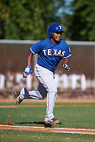 Texas Rangers Luis Terrero (88) during an instructional league game against the San Diego Padres on October 9, 2015 at the Surprise Stadium Training Complex in Surprise, Arizona.  (Mike Janes/Four Seam Images)