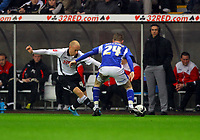 ATTENTION SPORTS PICTURE DESK<br /> Pictured: David Cotterill of Swansea City in action <br /> Re: Coca Cola Championship, Swansea City Football Club v Leicester City at the Liberty Stadium, Swansea, south Wales. Saturday 16 January 2010