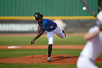 Pitcher Lyonel Barthelemy (2) during the Perfect Game National Underclass East Showcase on January 23, 2021 at Baseball City in St. Petersburg, Florida.  (Mike Janes/Four Seam Images)