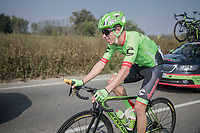 eventual race winner Rigoberto Uran (COL/Cannondale-Drapac) is happy with a banana<br /> <br /> 98th Milano - Torino 2017 (ITA) 186km