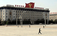 Kim Il-sung Square in Pyongyang, North Korea.