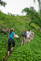 Herpetologist Hinrich Kaiser leads students on a hike on Atauro Island, Timor-Leste (East Timor)