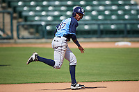 Tampa Bay Rays Angel Perez (87) during an instructional league game against the Baltimore Orioles on September 25, 2015 at Ed Smith Stadium in Sarasota, Florida.  (Mike Janes/Four Seam Images)