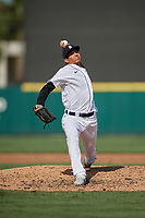 Detroit Tigers pitcher Cleiverth Perez (86) during a Florida Instructional League game against the Pittsburgh Pirates on October 16, 2020 at Joker Marchant Stadium in Lakeland, Florida.  (Mike Janes/Four Seam Images)
