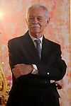 Spanish writer Eduardo Mendoza during the official lunch for 'Miguel de Cervantes 2016' Literature award at the Royal Palace. April 19 ,2017. (ALTERPHOTOS/Pool)