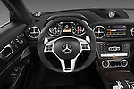 Steering wheel view of a 2013 Mercedes-Benz SL-Class SL63 AMG Convertible