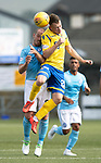 Forfar v St Johnstone….27.07.19      Station Park     Betfred Cup       <br />Kyle McClean and Gary Irvine<br />Picture by Graeme Hart. <br />Copyright Perthshire Picture Agency<br />Tel: 01738 623350  Mobile: 07990 594431