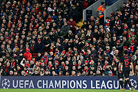 Fans in the Kenny Dalglish stand look on<br /> <br /> Photographer Rich Linley/CameraSport<br /> <br /> UEFA Champions League Round of 16 Second Leg - Liverpool v Atletico Madrid - Wednesday 11th March 2020 - Anfield - Liverpool<br />  <br /> World Copyright © 2020 CameraSport. All rights reserved. 43 Linden Ave. Countesthorpe. Leicester. England. LE8 5PG - Tel: +44 (0) 116 277 4147 - admin@camerasport.com - www.camerasport.com
