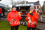 Enjoying a coffee after their Saturday Walk at the Fair Green in Cahersiveen were Ann Landers & Elma Shine.