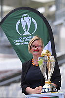 ICC Women's Cricket World Cup chief executive Andrea Nelson. 2022 Women's Cricket World Cup tournament venues presser at the Basin Reserve in Wellington, New Zealand on Tuesday, 17 November 2020. Organisers for the 2022 Women's Cricket World Cup are welcoming a $2 million funding boost that will go towards upgrading player facilities at the five New Zealand venues for the tournament. Photo: Dave Lintott / lintottphoto.co.nz