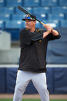 Bradenton Marauders manager Michael Ryan (12) during practice before a game against the Tampa Yankees on April 11, 2016 at George M. Steinbrenner Field in Tampa, Florida.  Tampa defeated Bradenton 5-2.  (Mike Janes/Four Seam Images)