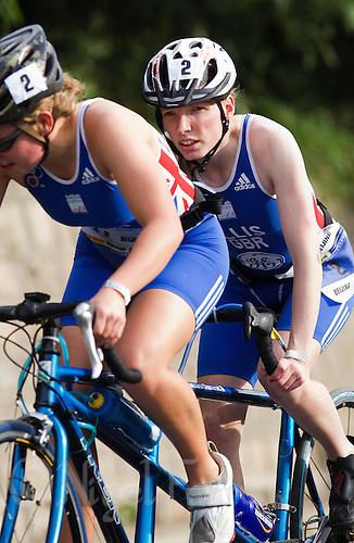 09 SEP 2011 - BEIJING, CHN - TRI-6 competitor Charlotte Ellis (GBR) - 2011 ITU World Paratriathlon Championships .(PHOTO (C) NIGEL FARROW)