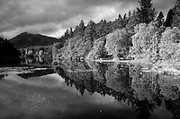 Beinn a Bheithir reflected in Glencoe Lochan, Glencoe, Highland