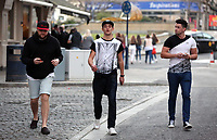 "COPY BY TOM BEDFORD<br /> Pictured: Tom Richards (C) out and about in Swansea. STOCK PICTURE<br /> Re: Danniella Westbrook's cagefighter ex-boyfriend is about to become a dad after falling for another older woman.<br /> Serial toyboy Tom Richards, 27, told friends Danniela, 43, ""can't hold a candle"" to his new love - brunette Cath Hughes who is a month away from giving birth.<br /> Richards kept the pregnancy secret after discovering his old flame Daniela suffered a miscarriage last year.<br /> But he and Cath, 32, have shown friends a 3D scan of the baby boy due in May.<br /> A pal of the couple said: ""Tom kept the lid on it after finding out that Danniela had lost her baby.<br /> ""He's moved on but he didn't want to rub her nose in it by announcing he's going to be a dad.<br /> ""He's found himself a good woman, she's a bit older than him but she's a good influence."""