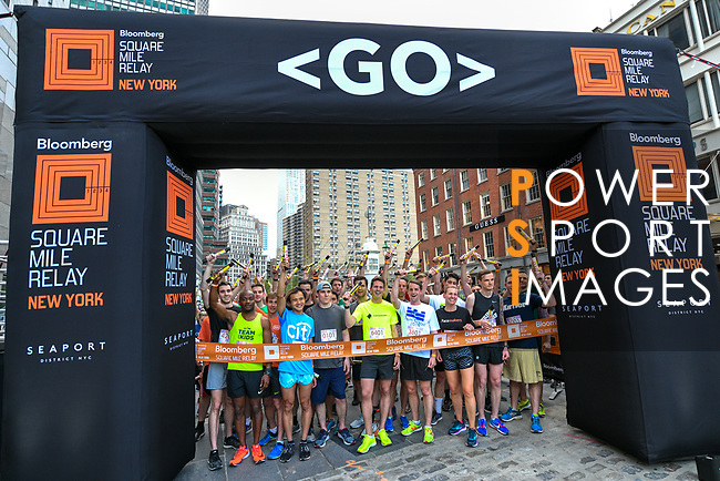 The Extra Mile 2018 -  Participants get ready to start the New York race on 3 May 2018, in New York, USA. Photo by Enrique Shore / Power Sport Images