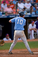Kyle Seager #10 of the North Carolina Tar Heels at bat versus the Clemson Tigers at Durham Bulls Athletic Park May 23, 2009 in Durham, North Carolina. The Tigers defeated the Tar Heals 4-3 in 11 innings.  (Photo by Brian Westerholt / Four Seam Images)