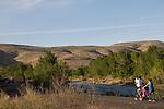 Yakima, Yakima Greenway, Yakima River, walkers, runners, riverfront trail, natural area, Eastern Washington, Yakima County, Washington State, Pacific Northwest, United States,