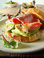 Bacon and avocado sandwich
