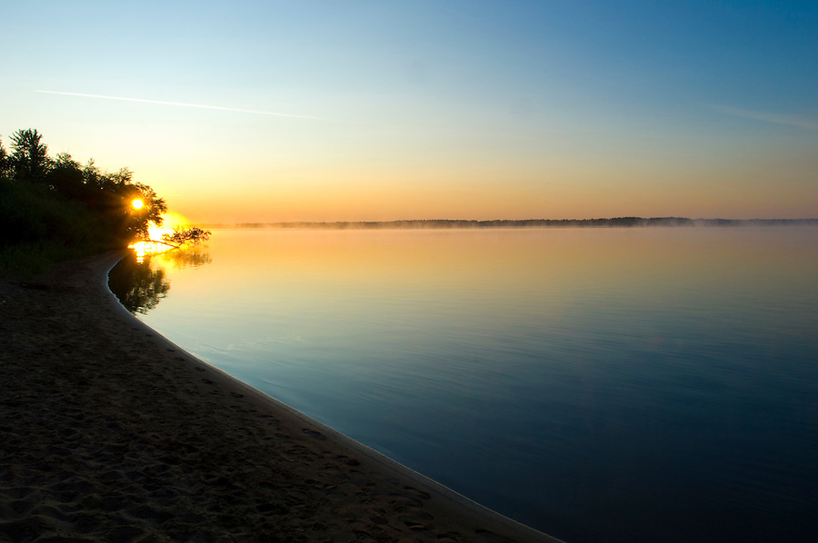 Sunrise over Castle Rock Lake in Buckhorn State Park, WI.