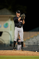 Jupiter Hammerheads relief pitcher Cam Baird (33) during a Florida State League game against the Bradenton Marauders on April 19, 2019 at LECOM Park in Bradenton, Florida.  Bradenton defeated Jupiter 7-1.  (Mike Janes/Four Seam Images)