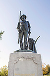 "On the 100th anniversary of the ""Shot heard around the World"" in Concord, Massachusetts, a memorial statue of a Minuteman waas erected to commemorate this historic moment in American history.  This Minuteman was a farmer, or businessman who picked-up arms against the British to win their independence."