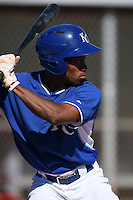 Kansas City Royals outfielder Leland Clemmons (30) during an Instructional League game against the Cincinnati Reds on October 16, 2014 at Goodyear Training Facility in Goodyear, Arizona.  (Mike Janes/Four Seam Images)