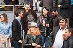 Julian Lopez, Real Madrid basketball player Sergio Rodriguez, Fran Perea and his girlfriend during Mutua Madrid Open Tennis 2016,  May 2, 2016. (ALTERPHOTOS/BorjaB.Hojas)
