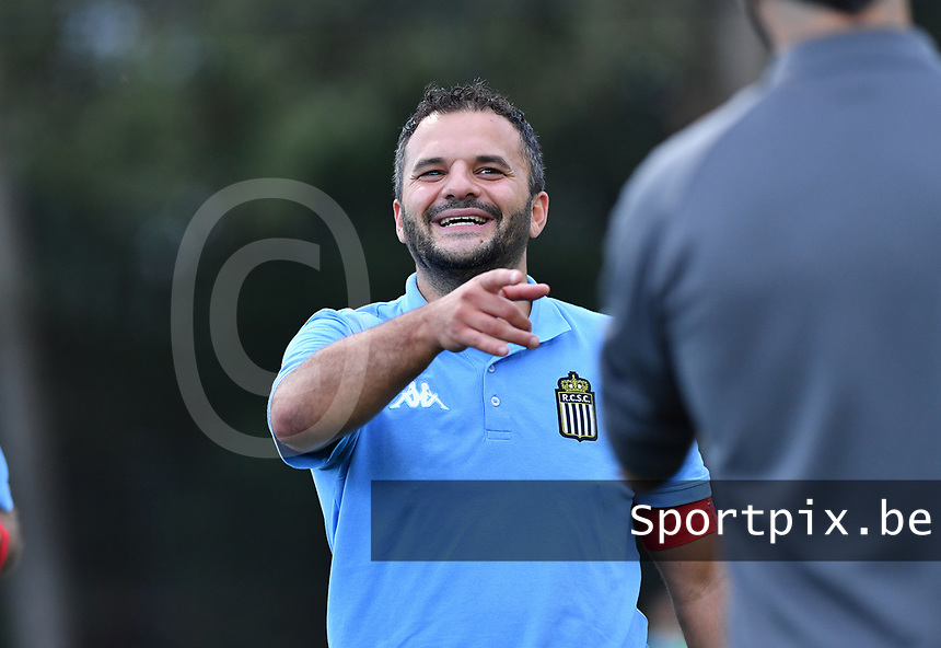 head coach Tiziano Rutilo of Sporting Charleroi pictured during a female soccer game between Sporting Charleroi and FC Femina White Star Woluwe on the second matchday of the 2020 - 2021 season of Belgian Scooore Women s SuperLeague , friday 4 th of September 2020  in Marcinelle , Belgium . PHOTO SPORTPIX.BE | SPP | DAVID CATRY