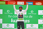 Egan Bernal (COL) Ineos Grenadiers retains the young riders White Jersey at the end of Stage 12 of La Vuelta d'Espana 2021, running 175km from Jaén to Córdoba, Spain. 26th August 2021.     <br /> Picture: Luis Angel Gomez/Photogomezsport   Cyclefile<br /> <br /> All photos usage must carry mandatory copyright credit (© Cyclefile   Luis Angel Gomez/Photogomezsport)