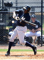 March 26, 2010:  Shortstop Anderson Feliz of the New York Yankees organization during Spring Training at the Yankees Minor League Complex in Tampa, FL.  Photo By Mike Janes/Four Seam Images