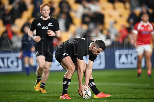 3rd July 2021, Auckland, New Zealand;  Will Jordan touches down for a try.<br /> New Zealand All Blacks versus Tonga, Steinlager Series, international rugby union test match. Mt Smart Stadium, Auckland. New Zealand.