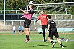 16.09.2020, Sportpark Illoshöhe, Osnabrück, GER, 2. FBL, Training VfL Osnabrueck <br /> <br /> im Bild<br /> Moritz Heyer (VfL Osnabrück, 6) mit einem Kopfball.<br /> <br /> Foto © nordphoto / Paetzel