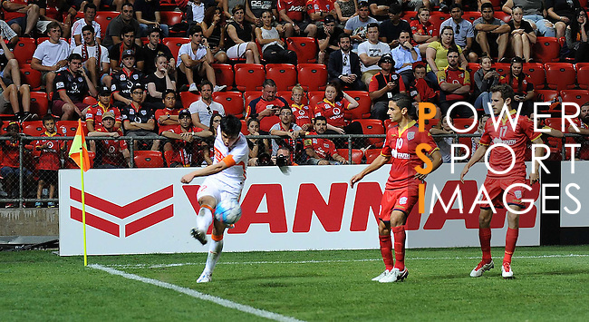 Adelaide United (AUS) vs Shandong Luneng (CHN) during their AFC Champions League Playoff Stage match on 09 February 2016 held at the Hindmarsh Stadium in Adelaide, Australia. Photo by Stringer / Lagardere Sports